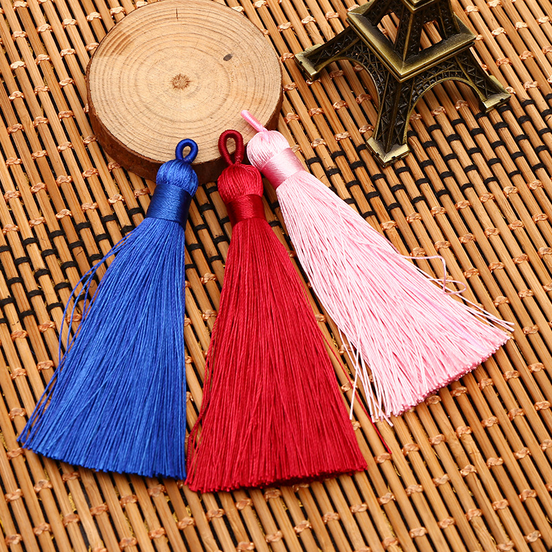 12pcs/lot 80mm tassel silk fringe sewing bangs flower tassel decorative pendant tassels for curtains home decoration accessories