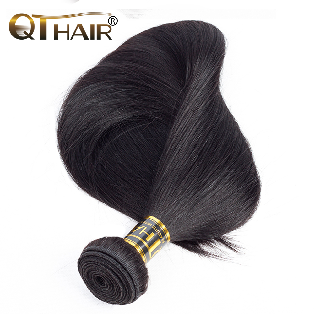 Brazilian Straight Hair 3 Bundles 100% Human Hair Weave Bundles Hair Extensions Can Buy 1/3/4 Bundles QThair Non-Remy Hair