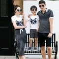 2016 women dress Vestidos family matching clothes matching-mother-daughter-clothes father son T-shirt baby boys sets Striped