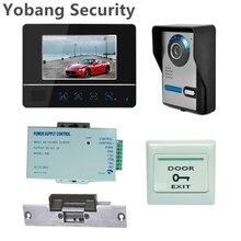 Yobang Security Freeship 7″ LCD Touch Video Intercom Door Phone doorbell door bell IR night vision outdoor Camera+Electric Lock