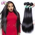 """3 pacotes de cabelo virgem malaio 6 """"-28"""" cabelo humano cabelo reto malaio xbl não transformados cabelo liso virgem feixes"""