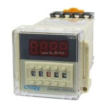 цена на DH48S-1Z daya pada waktu tunda relay, 8-Pin SPST 0.01S - 99H99M AC / DC24V 3u soket