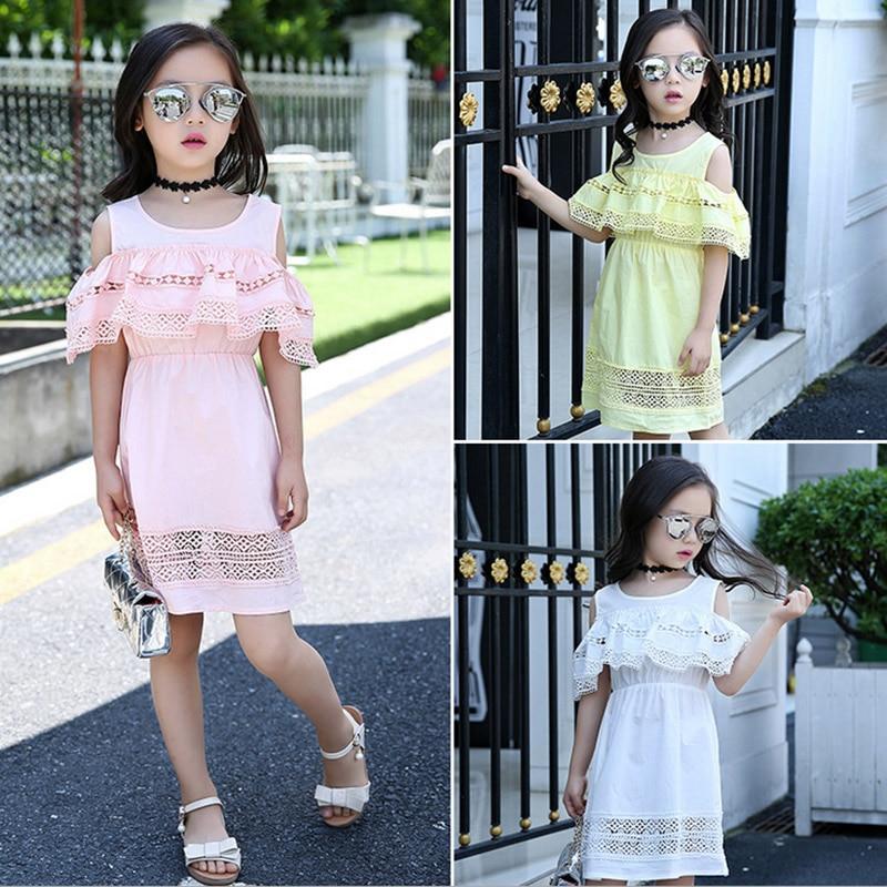 Baby girl dress 2017 yay Uşaqlar içi boş krujeva Princess Infantil - Uşaq geyimləri - Fotoqrafiya 2