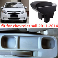 Armrest storage box car organizer seat gap case pocket content box with USB cup holder FIT FOR chevrolet sail 2011 2014