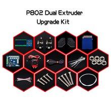 Nueva Llegada de La Impresora 3D de Doble Extrusora Kit de Actualización para Zonestar P802N P802M P802Q P802QS Dos impresión en Color Bowen extrusora