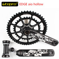 Litepro EDGE AIO Hollow Double Chainring road bike Crankset Crank 50 34T 52 34T 53T 39T GXP 170mm/172.5mm