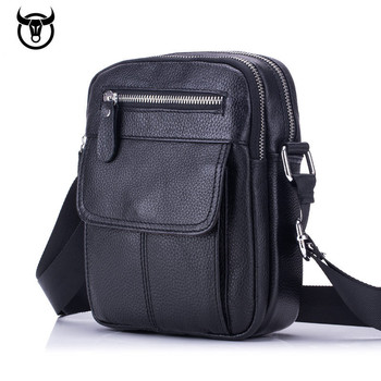men's Genuine Leather Vintage Messenger Bag cow leather male Casual multifunction Small Crossbody bag hangbag man Shoulder Bags