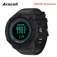 New APACHE Smartwatch Men Altimeter Barometer Compass Thermometer Pedometer Worldtime Sport Watches APACHE Smartwatch