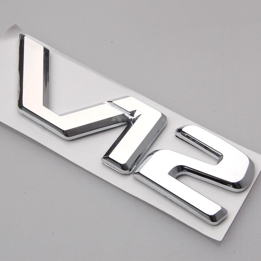 3D Badge Chrome V12 Decal Emblem Decor Sticker For CL600 W140 C140 S600 600SE Car Styling Car Stickers  sticker