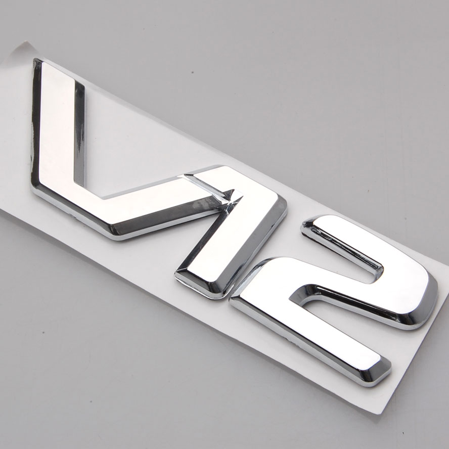 BBQ@FUKA 3D Badge Chrome V12 Letter Emblem Decor Sticker Fit For Mercedes benz CL600 W140 C140 S600 600SE Car Styling Stickers car styling for mercedes benz g series w460 w461 w463 g230 g300 g350 chrome number letters rear trunk emblem badge sticker