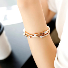SINLEERY Charm Cubic Zirconia Hollow Bangle Cuff For Women Rose Gold Silver Color Bracelets Women Wedding Jewelry SL140 SSC
