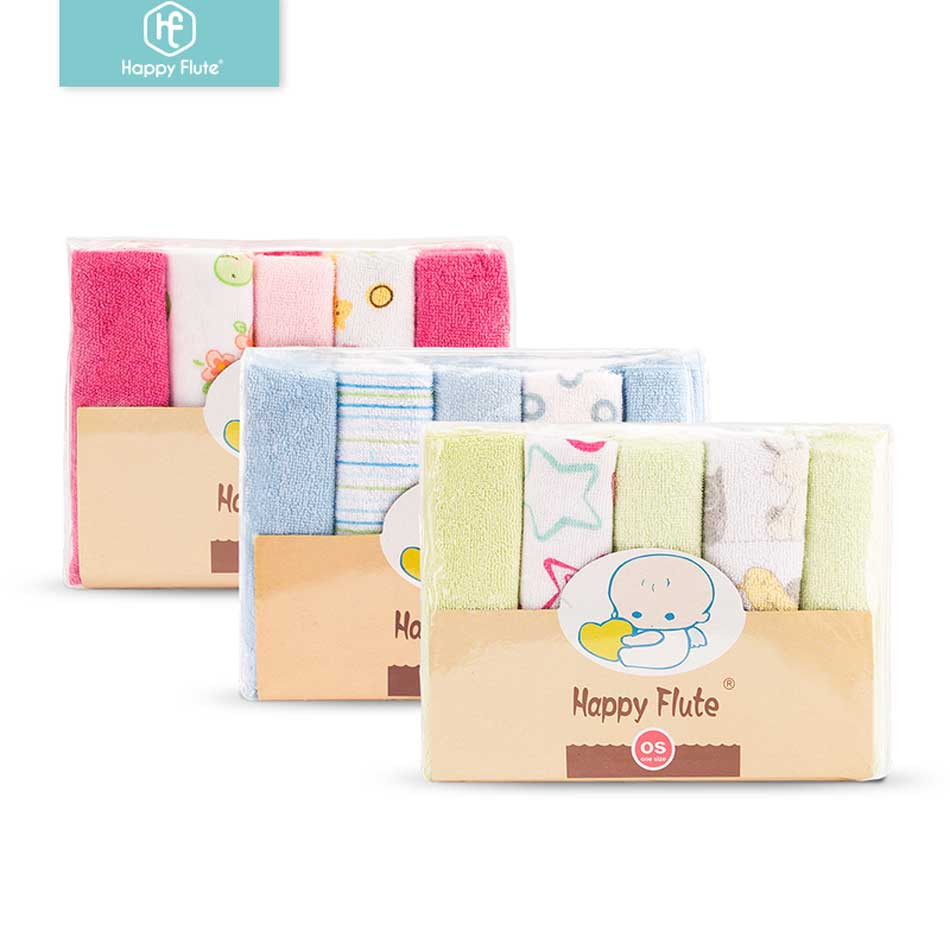 HappyFlute 23*23 Cm 10 Pcs/set Super Soft Baby Wipes Cotton&polyester  Feeding Towels