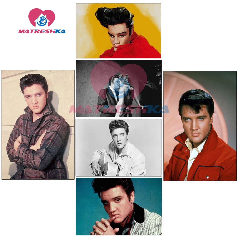 Elvis Presley 5d diamond painting full drill square diamond embroidery sale pictures of rhinestones Modular pictures diamond art