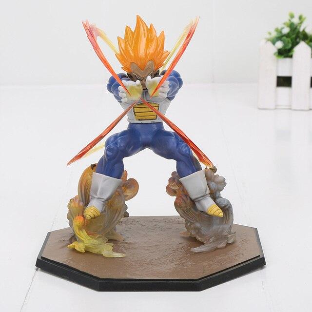 Anime Dragon Ball Z Super Saiyan Vegeta Batalha Estado Final do Flash PVC Action Figure Collectible Modelo Toy 15 CM