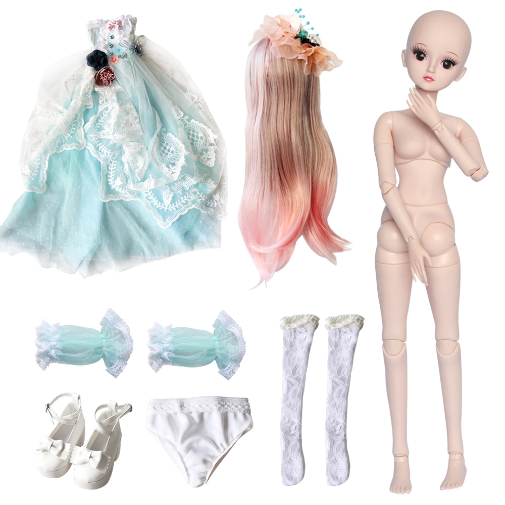 UCanaan 19 Ball ข้อต่อ BJD SD ตุ๊กตาเสื้อผ้าชุดวิกผมผมแต่งหน้าสำหรับของขวัญหญิงและตุ๊กตา Collection 23.6''-ใน ตุ๊กตา จาก ของเล่นและงานอดิเรก บน   3
