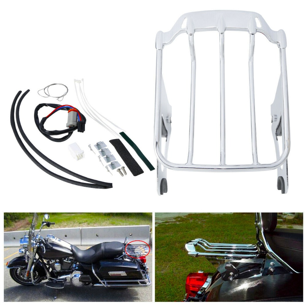 US $98 98 34% OFF|Motorcycle 2 up Luggage Rack LED Tail Light Lens For  Screamin Eagle Street Glide Road Gilde-in Covers & Ornamental Mouldings  from