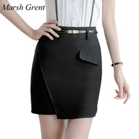 Marsh Grent S 4XL New Fashion Summer Women S Business Suit Pencil Skirt Elegant High Waist