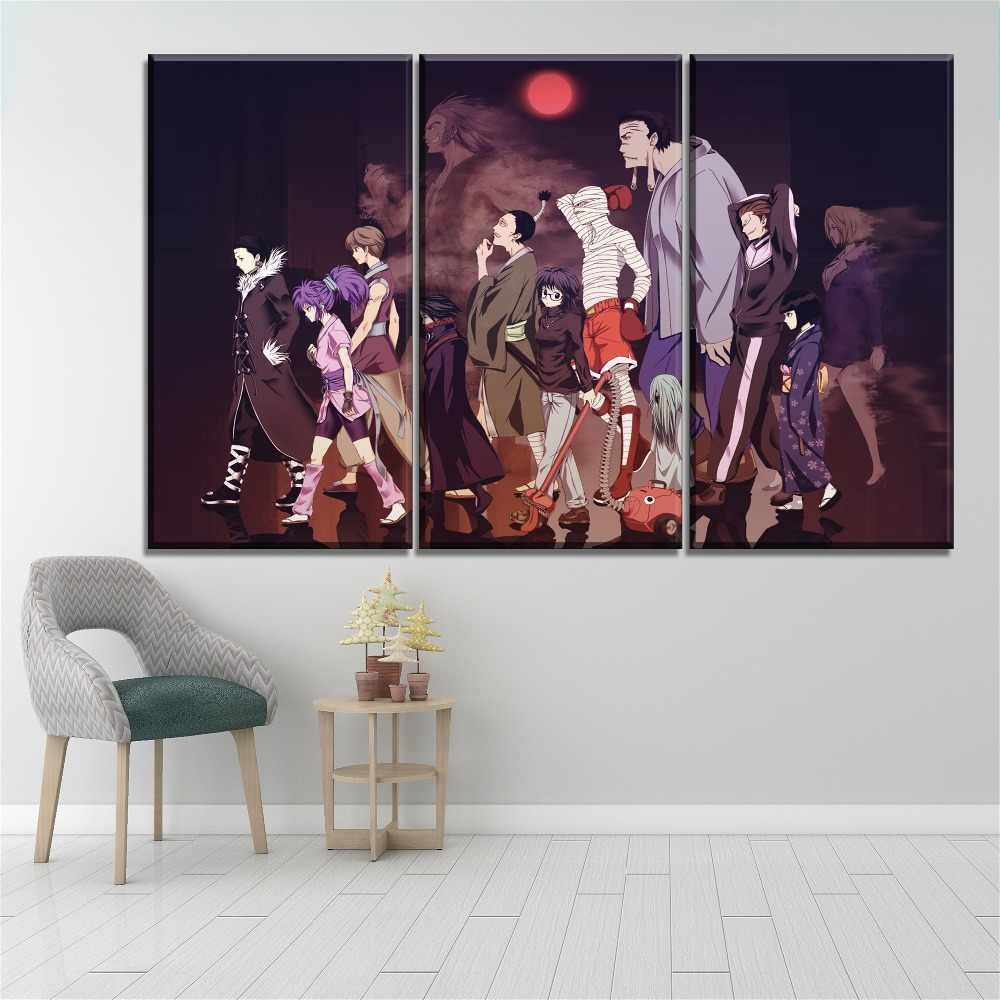 Original Decorations Art for Bedroom Living Room Home Decor Art HD Print Oil Painting on Canvas,Hunter X Hunter 12x18inch,Framed