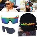 Con Embalaje 2016 Nuevas Gafas de Sol de Las Mujeres Diseñador de la Marca Sport Calle Neff gafas de sol de Los Hombres 2 Unidades Lense Gafas de Sol De Las Mujeres