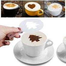 16 шт. кофе латте книги по искусству трафареты DIY капучино украшения торта FoamTool CN(ColCreative пены пластик форма для гирлянды