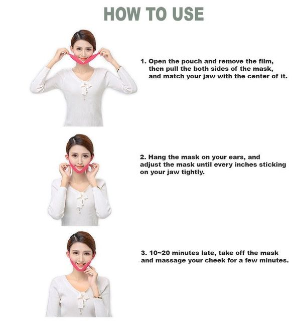 Korea Cosmetic Avajar Perfect V Lifting Premium Mask 1pcs V-Shape Jawline Mask Face Firming Lift Up Jawline Management Effect 5