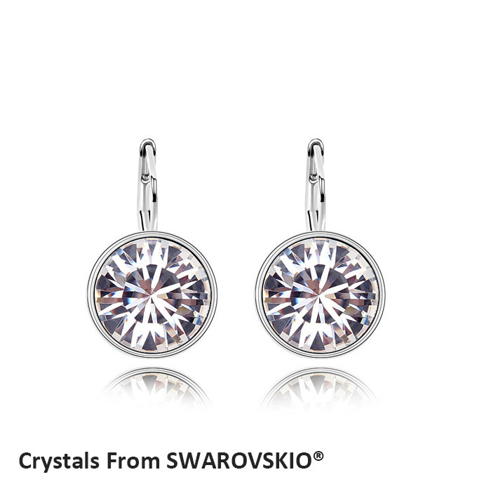 787ee854036d3 US $6.73 48% OFF|2019 Hot Sale Bella mini pierced round earrings Crystals  from SWAROVSKI good for Christmas Gift-in Drop Earrings from Jewelry & ...