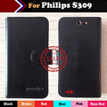 6 Цветов Для Philips S309 Чехол Флип Настроить Кожаный Защитный Телефон Обложка Luxury Бумажник Crazy Horse Дизайн + номер для Отслеживания