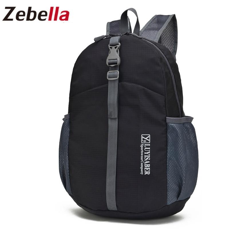 Zebella сгъваем лек водоустойчив мъж за пътуване жени раница унисекс удобен carteira чанта сгъваеми чанти найлон болса 8 цвят  t