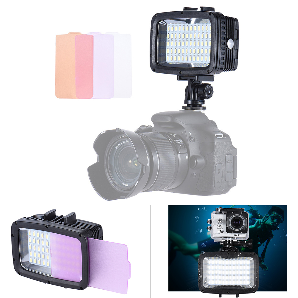 Andoer Ultra Bright 60pcs LED Video Light 1800LM 3 Modes Waterproof 5500K Fill in Light Photo