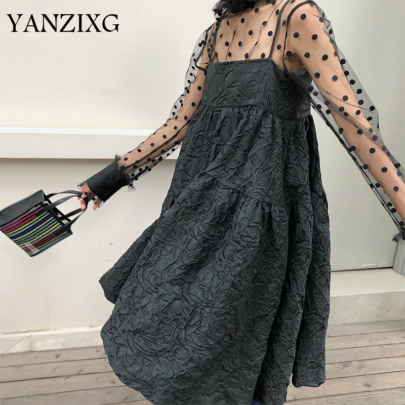 2019 New Summer Dress Women Japan Styles Straps Off the Shoulder Flat Bust Lady s A
