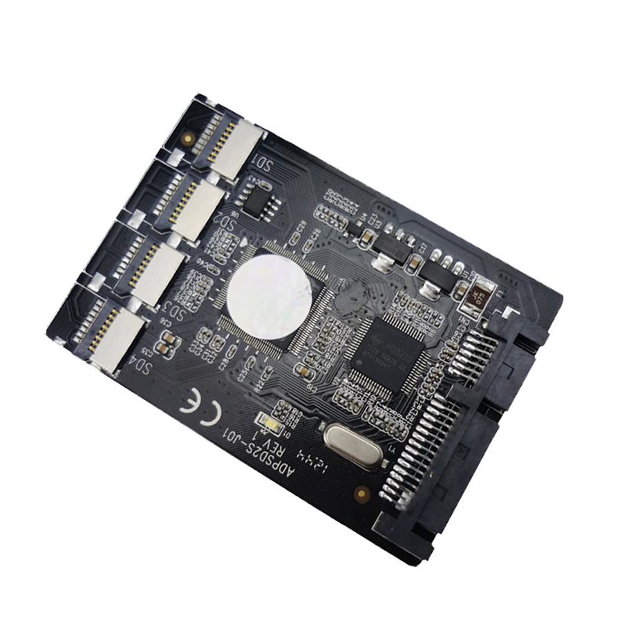 buy quad micro sd to sata adapter 2 5 hdd enclosure supports tf card adp02201