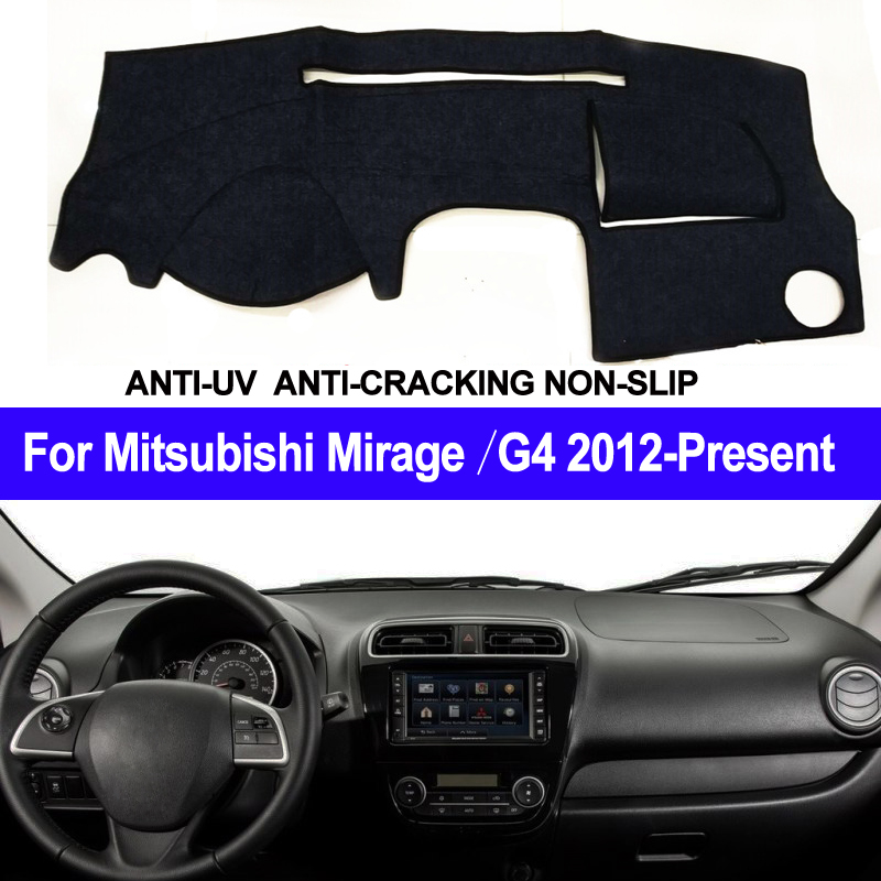 Car Dashboard Cover For Mitsubishi Mirage / Mirage G4 2012 2013 2014 2015 2016 2017 2018 2019 Presen LHD Of RHD Auto Sun Shade