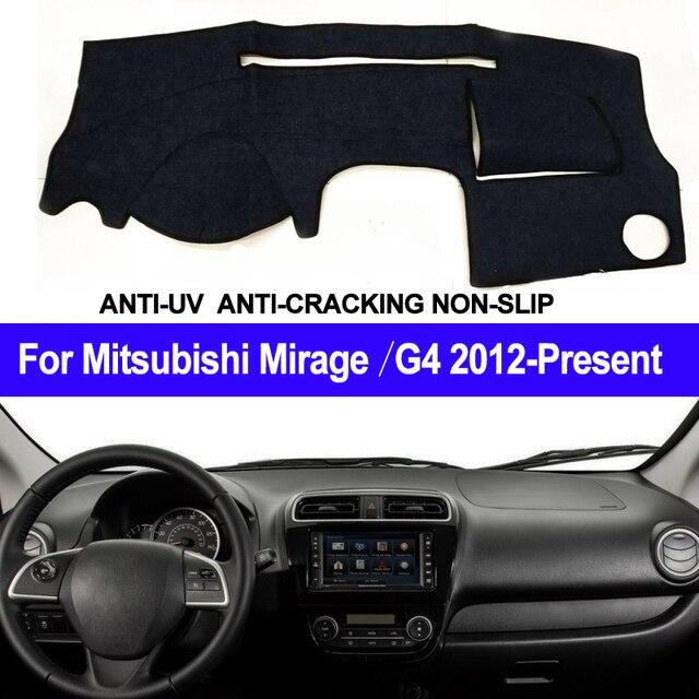 רכב לוח מחוונים כיסוי למיצובישי מיראז /מיראז G4 2012 2013 2014 2015 2016 2017 2018 2019 Presen LHD של RHD אוטומטי שמש צל