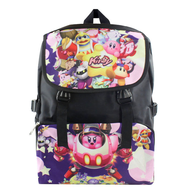 6fb5617357 2019 Fashion Kirby Kids Backpack Cartoon School Bag Student Bags Double  Shoulder Anti Water Boy Girls