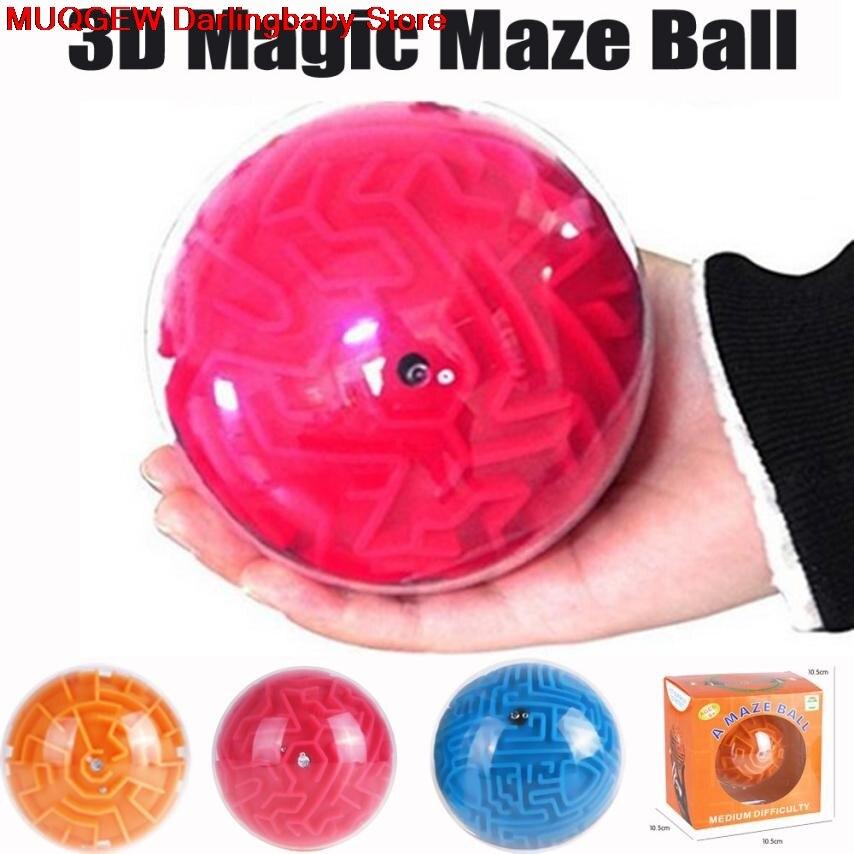 купить 3D Ball Maze Puzzle Labyrinth Magical Intellect Maze Ball Perplexus Ball Intelligence Educational Interesting Toys For Children по цене 378.6 рублей