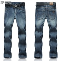 Free Shipping Winter Plus Size Military Men Hiphop Pants Cotton Jeans Straight Loose Long Trousers Brand