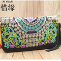 XIYUAN BRAND Exquisite chinese national vintage ethnic embroidered clutch bag,women embroidery bag embroidered handbags ethnic