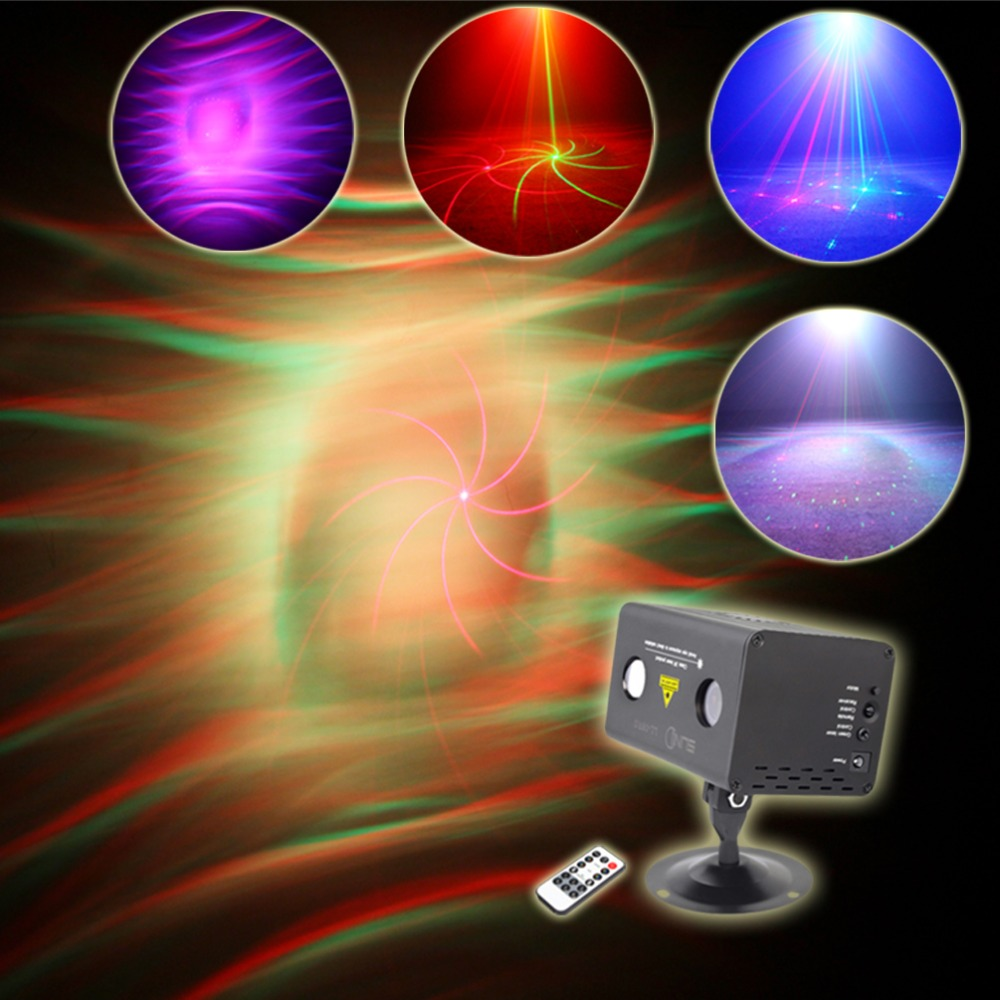8 Pattern Laser Light LED Stage Lighting Effect Musical Event DJ Projector Party Decorative Colorful Ripple Galaxy LL-08RG