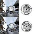 "Waterproof Motorcycle Handlebar Dial Clock Thermometer For Harley 7/8"" 1"" Handle"