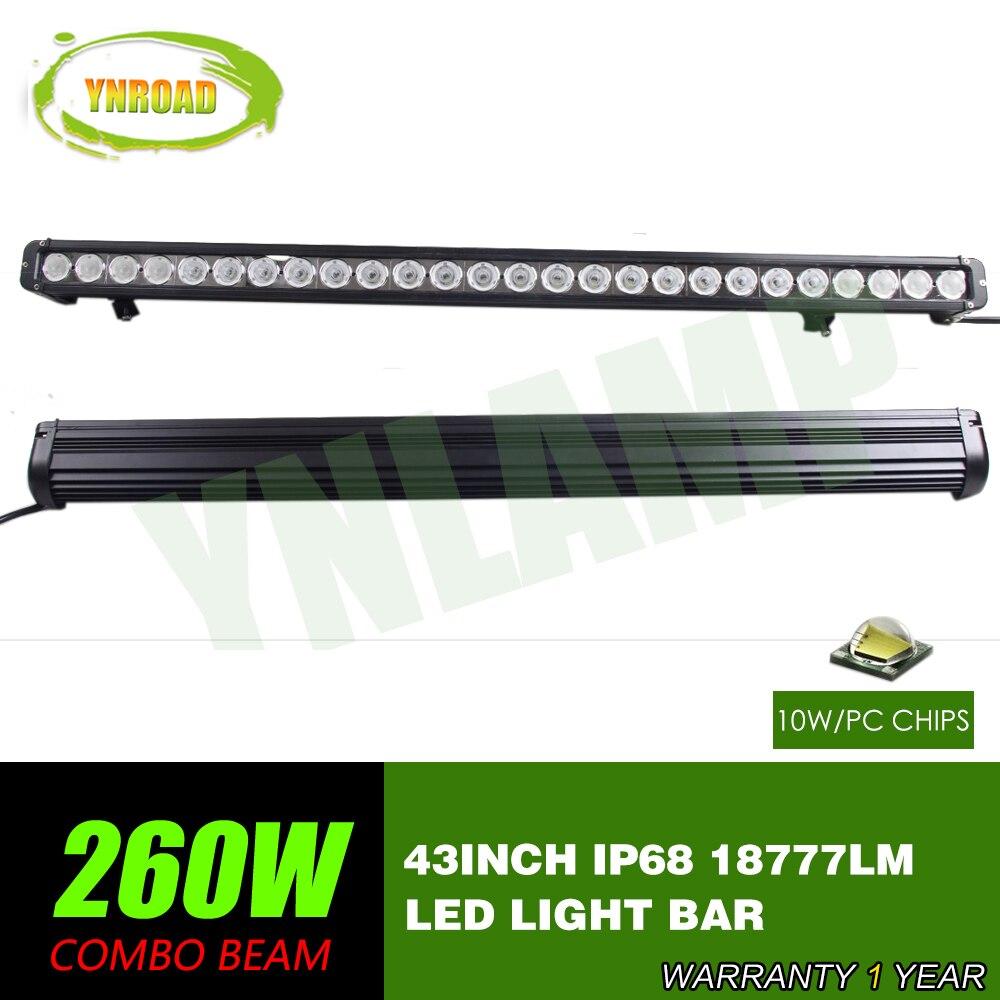 YNROAD 43 hüvelykes 260w-os egysoros LED-es sáv terepen haladó - Autó világítás