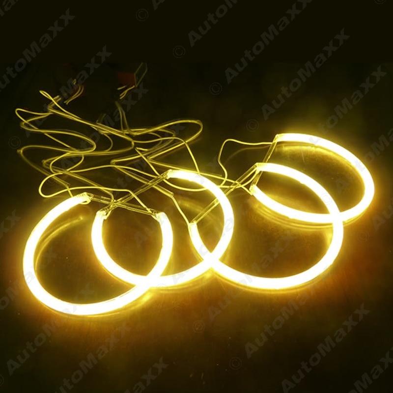 Yellow Car CCFL Halo Rings Angel Eyes Headlights for BMW E46,E36,E38,E39 Light Kits #J-4170 цены онлайн