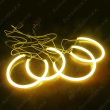 Yellow Car CCFL Halo Rings Angel Eyes Headlights for BMW E46,E36,E38,E39 Light Kits #J-4170