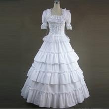 Летнее женское платье в викторианском стиле, винтажное длинное платье лолиты, женские вечерние бандажные Кружевные Гофрированные готические платья, костюмы Лолиты на заказ