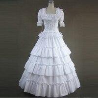 summer women victorian Vintage long lolita dress Ladies party bandage lace Ruffled gothic dress lolita costumes custom made