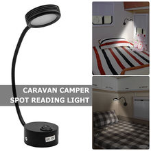 12V LED Spot Reading Light Switch ON/OFF Van Caravan Camper Boat Interior White 6500K