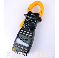 Professional Multifunction Digital 3 Phase Clamp Meter Power Factor Correction USB True RMS 4 Wire Testing LCD