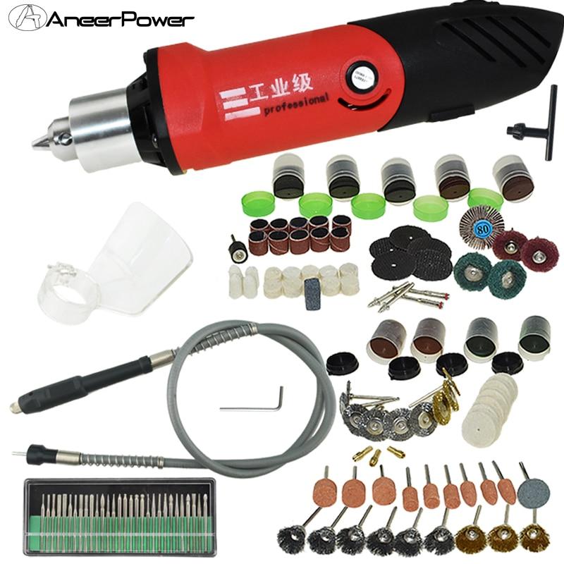 480W Drill Bit Electric Grinder Mini Drill Power Tool Set Dremel Machine Tool Accessories Tools Mini Electric Rotary Bit 6mm Pen