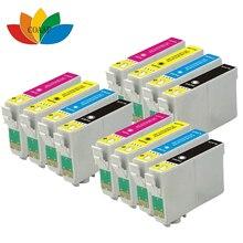 12 чернильные картриджи для EPSON совместимый 18XL T1811 T1816 XP312 XP205 XP225 XP212 XP215 XP302 XP412 XP402 XP415 принтер