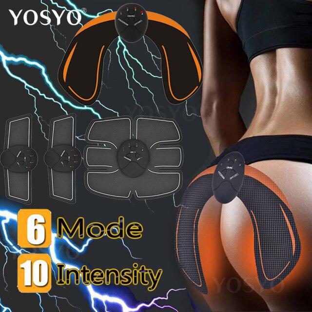 EMS Estimulador Muscular Hip Trainer ABS Aptidão Nádegas Butt Levantamento Nádega Toner Trainer Emagrecimento Massageador Unisex