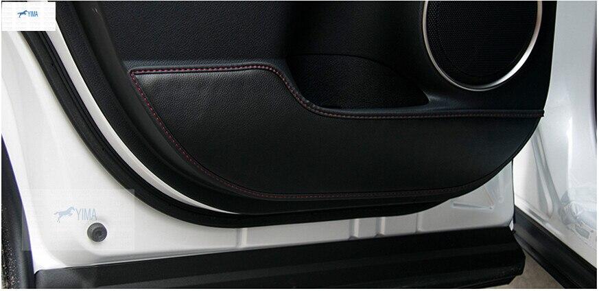 Inner Door protection protective pad kick pad 4 pcs For LEXUS NX NX200T NX300H 2015 2016 2017 target kick pad for taekwondo training black red